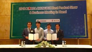 Lễ ký kết hợp đồng giữa Mỹ Như JSC – BP Tech Korea